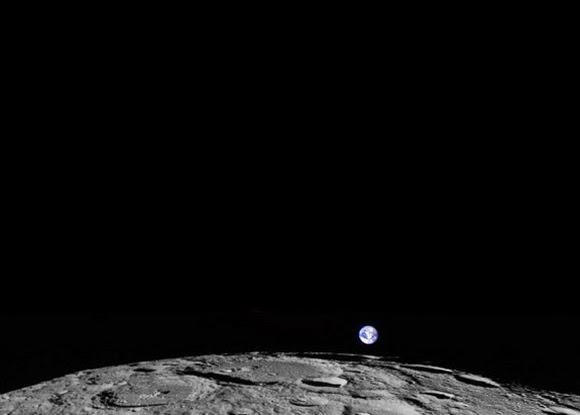 FOTO: Terbitnya Bumi di Ufuk Timur Bulan