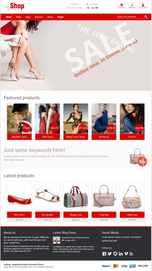 drupal themes product catalog