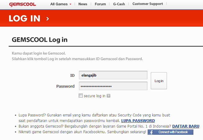 Login Gemscool PB Point Blank