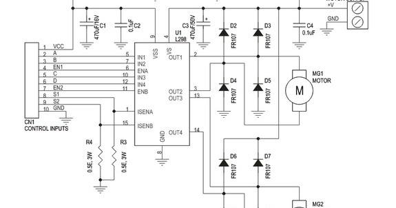 how to build dual motor l298 h-bridge motor control