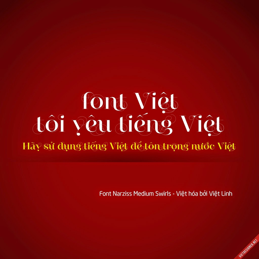 [Serif] Narziss Medium - Swirls Việt hóa