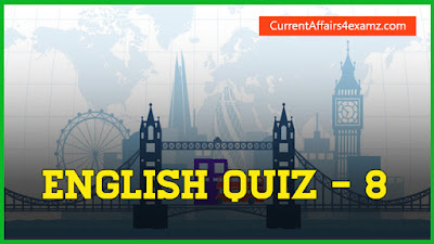 English Quiz for Railway RRB 2016