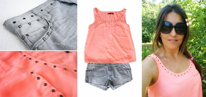 Diy customizar camiseta con tachuelas7