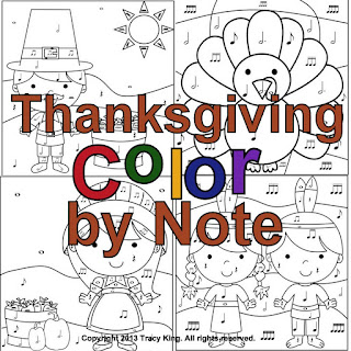 Thanksgiving Color by Note by Tracy King
