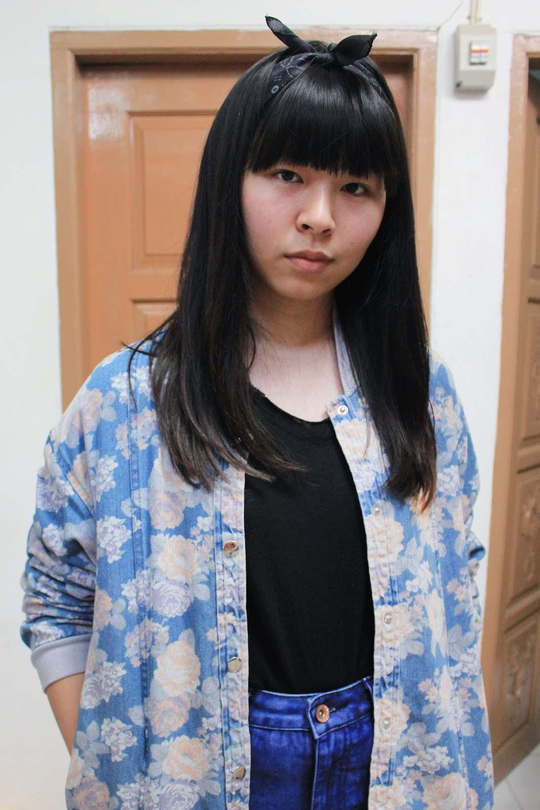 Floral jacket and bandana