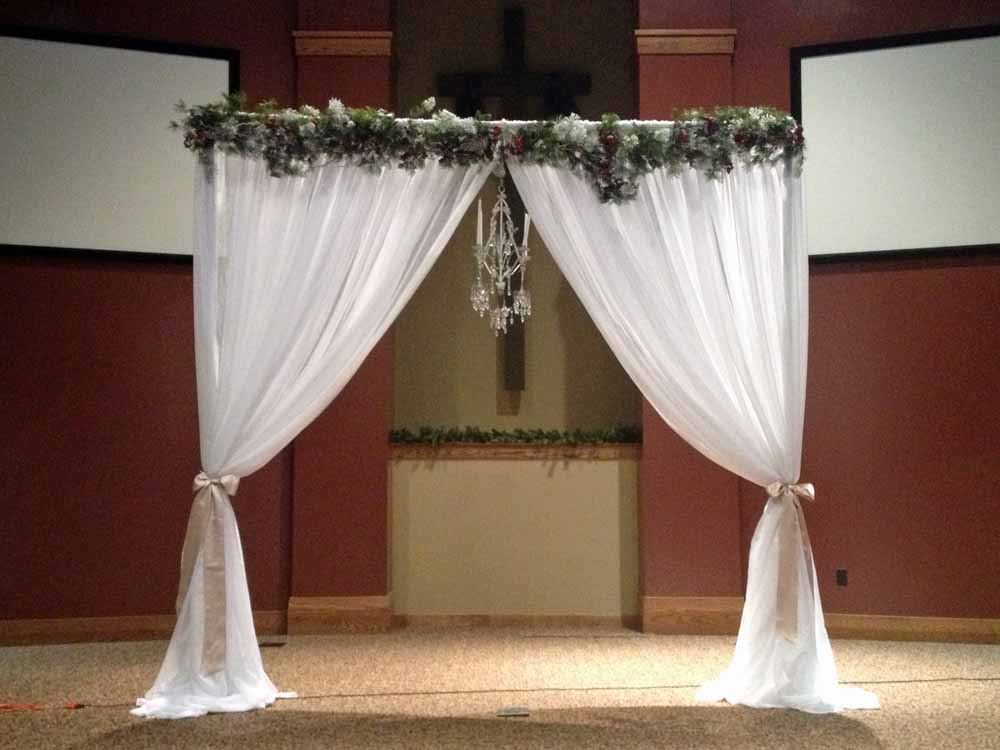 Real wedding ceremony backdrop elite events rental for Wedding backdrops