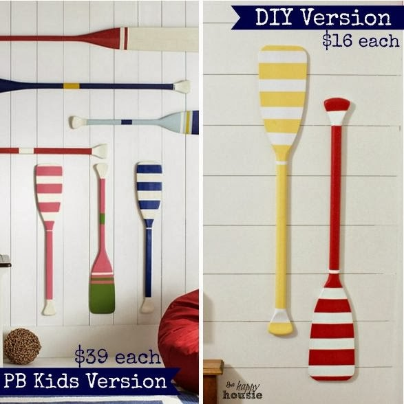 Pottery Barn Kids Inspired Oar Decor