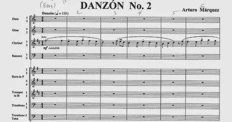 Partituras Pdf Danzon N 2 Arturo Marquez danzon