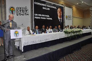 Bajo la dirección del doctor Jesús Feris Iglesias..Hipólito Mejía juramenta su Comando de Salud y promete profundizar las reformas del Sector
