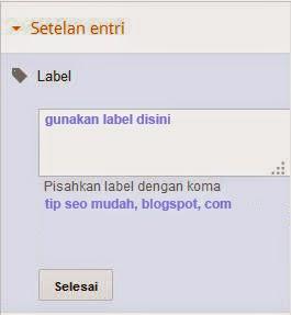 Gunakan Label Untuk Artikel