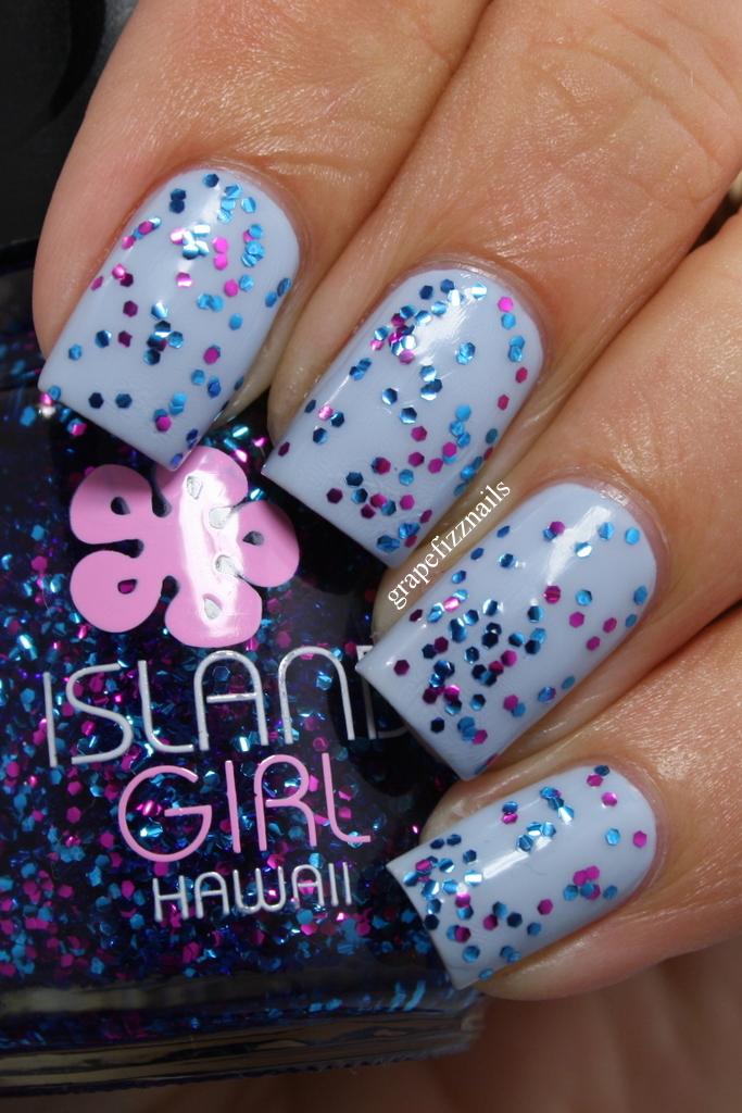 Grape Fizz Nails: Pure Ice Bikini and Island Girl Macadamia Nut