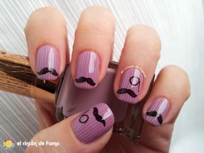 Manicura con bigotes - MOVEMBER