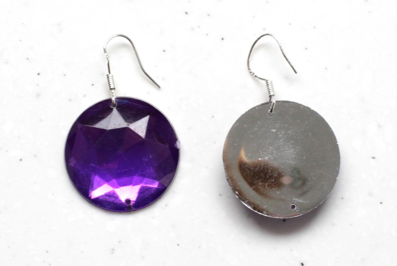 how to flat back gem earrings bit square