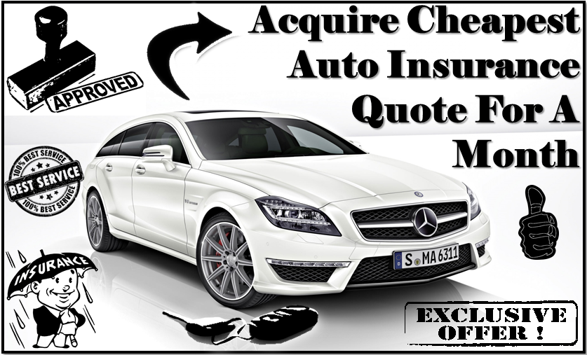 Cheapest Auto Insurance Quote For A Month
