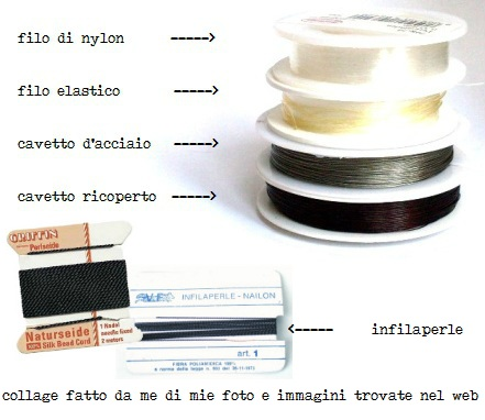Materiale per infilare collane