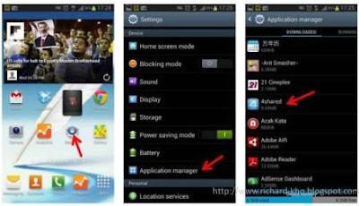 menghapus aplikasi android