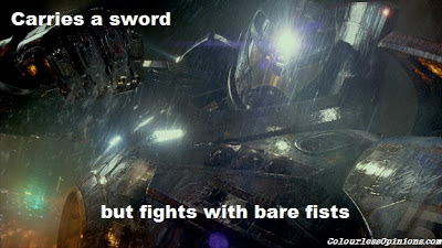 Pacific Rim Jaeger Gypsy Danger punching still meme