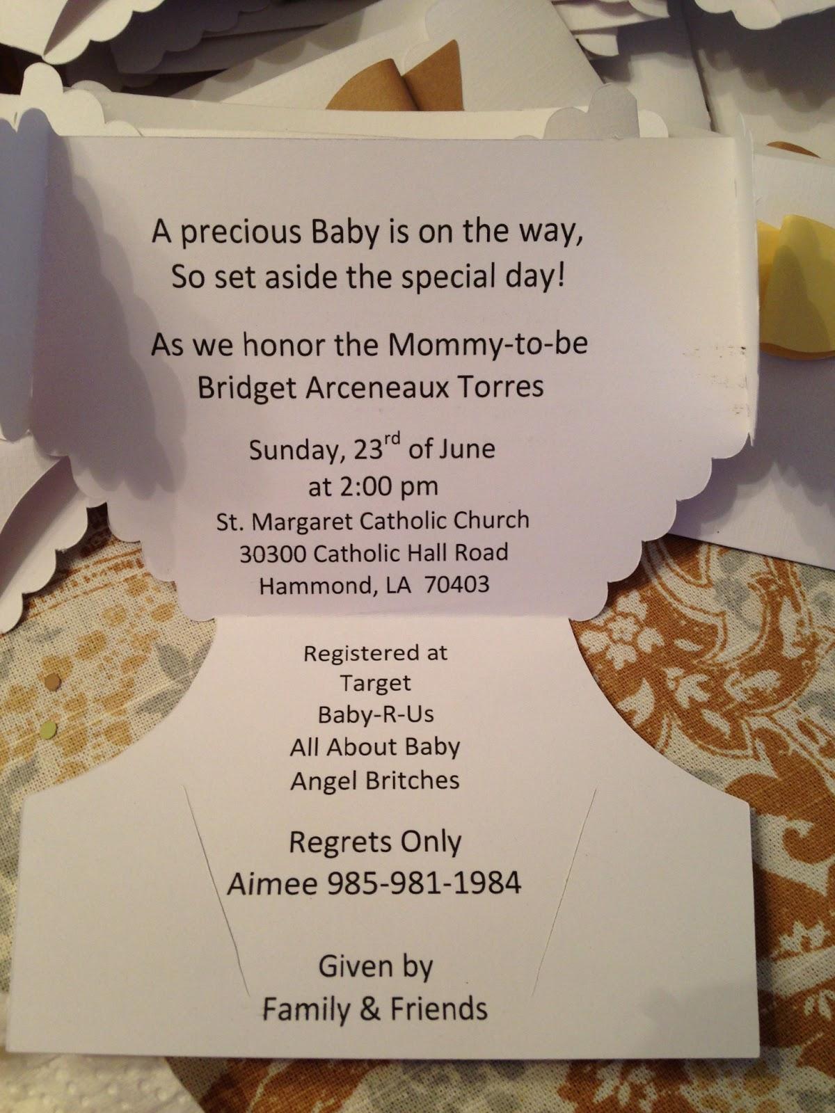 Scrapbook pad ink baby shower invites using artiste baby shower invites using artiste filmwisefo
