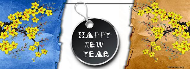 Ảnh bìa timeline facebook new year đẹp độc