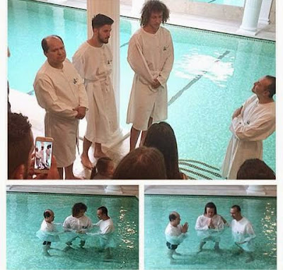 See Photos Of Brazilian Star David Luiz Being Baptized Today As He Goes Spiritual
