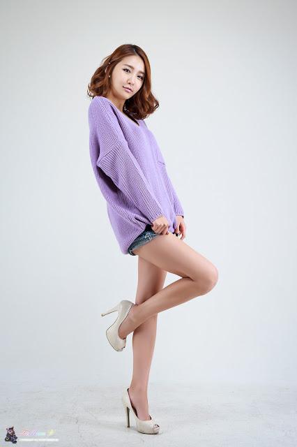 Bang Eun Young Sexy in Purple
