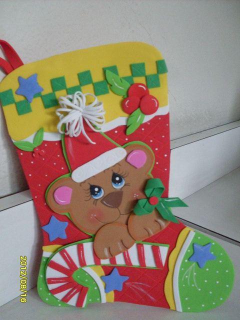 Manualidades y navidad botas navide as de fieltro o goma eva for Manualidades con goma eva para navidad