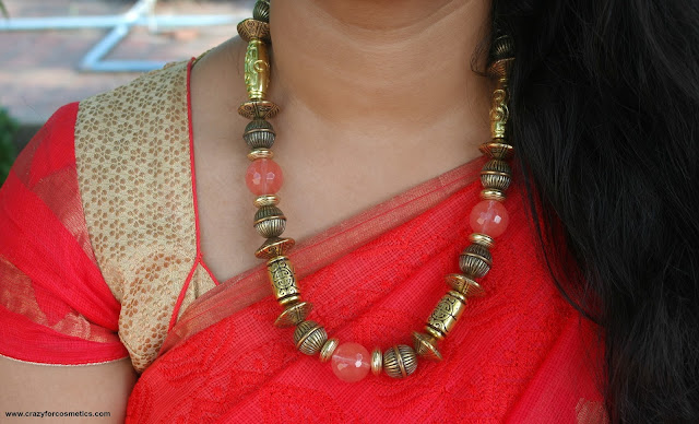 necklaces for sarees