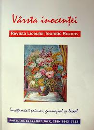 """Anuarul """"Vârsta Inocenţei"""",Anul IX,  nr. 16-17, 2013"""
