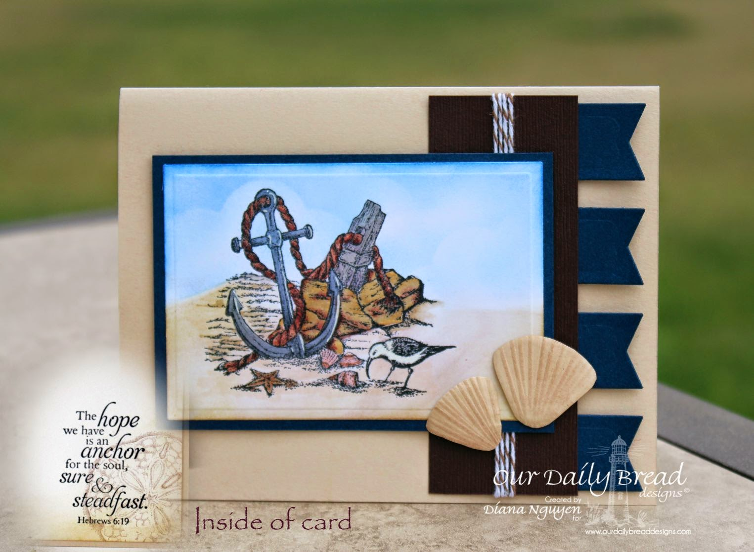 Our Daily Bread Designs, Anchor Set, Anchor the Soul, Ocean Treasures, Designed by Diana Nguyen