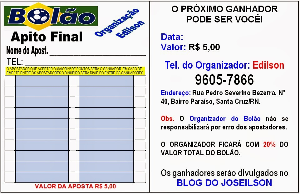 BOLAO APITO FINAL