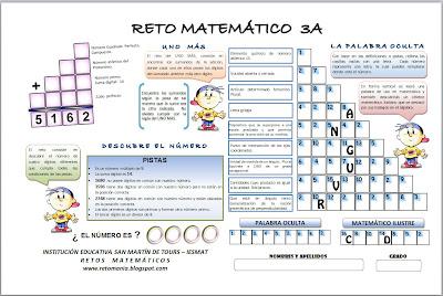 Retos Matemáticos, Problemas matemáticos, Desafíos matemáticos, Acertijos matemáticos, matemática divertida
