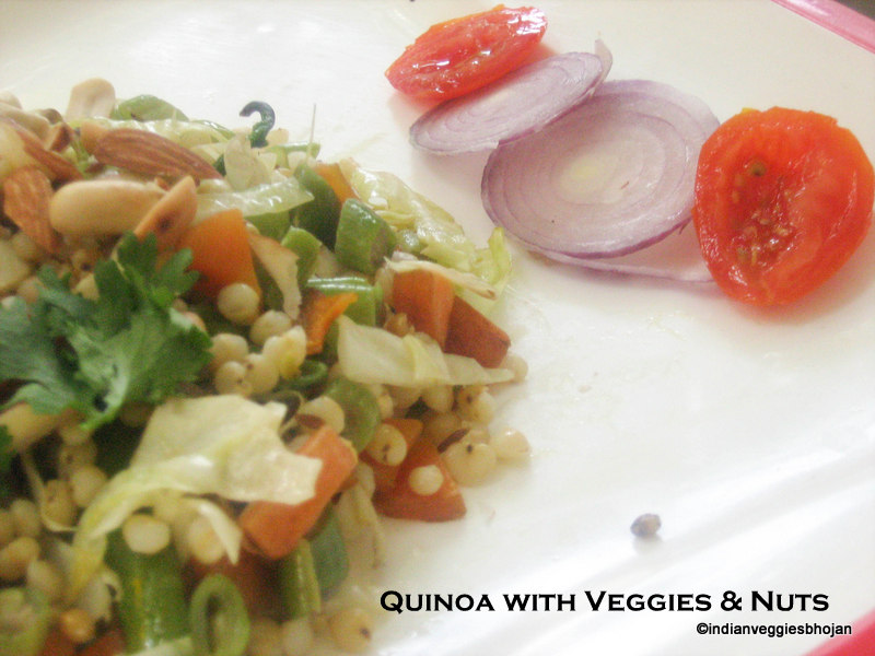 Quinoa with Veggies & Nuts ~ Subha's Veg Recipes