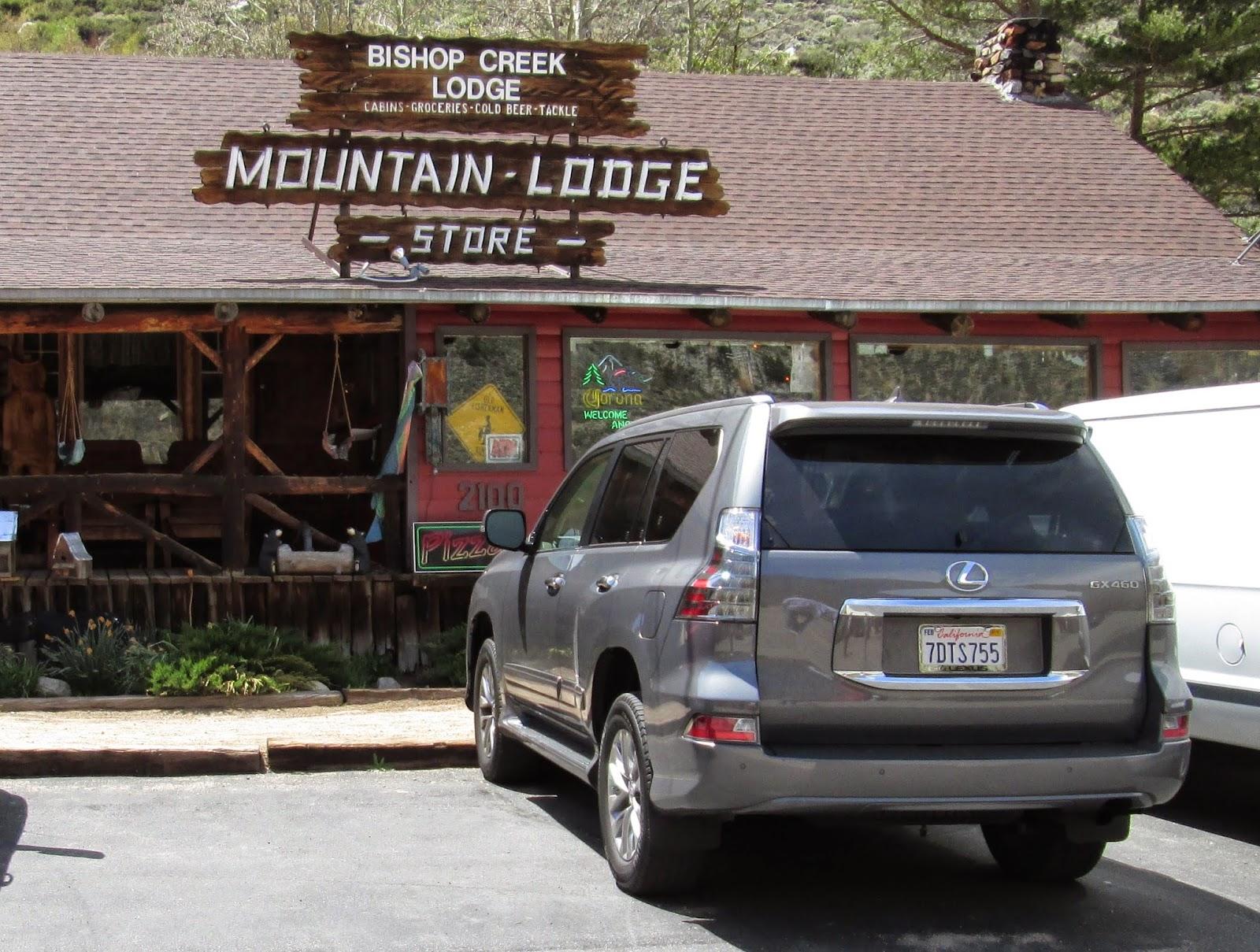 2014 Lexus GX460 at Bishop Creek Lodge