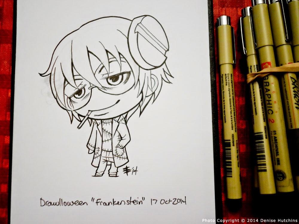 Chibi Dr. Franken Stein Drawing