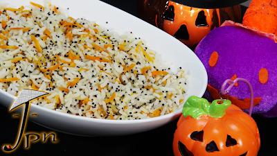 Arroz com cenoura e quinoa negra