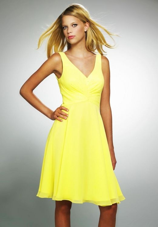 Yellow Cocktail Dresses Online 118