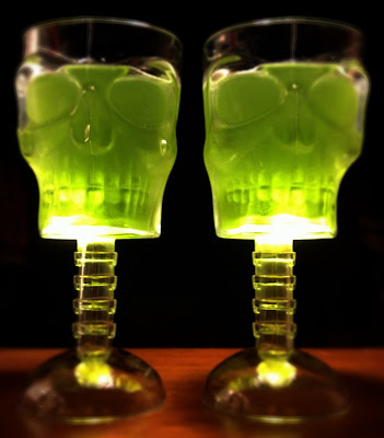 halloween jelly in skull glasses