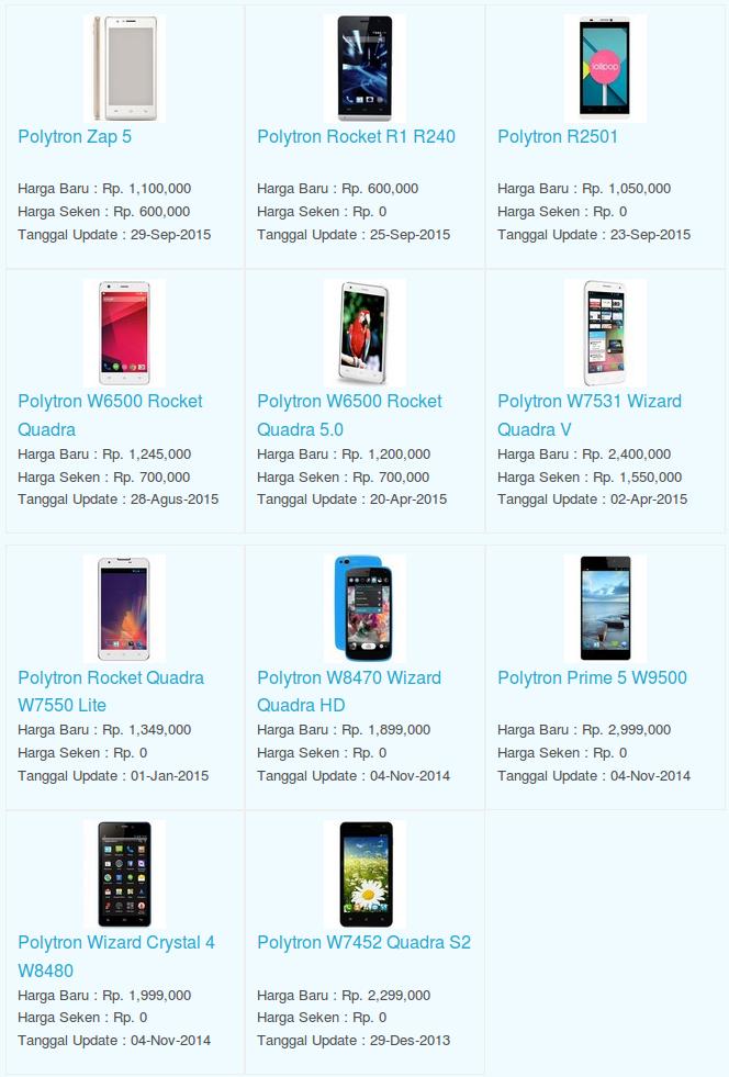 Daftar Terbaru Harga Hp Polytron Oktober 2015