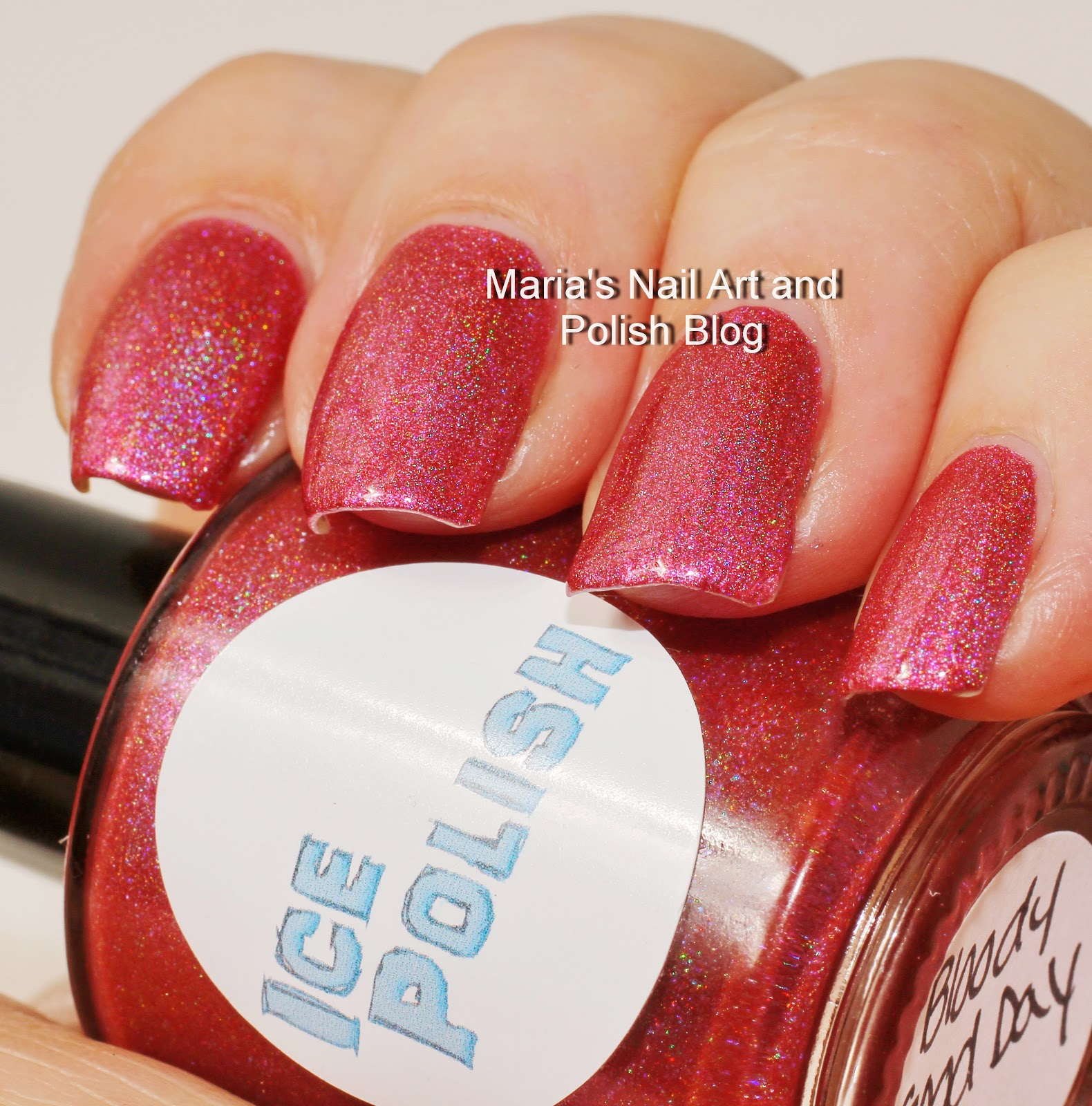 Marias Nail Art And Polish Blog Flushed With Stripes And: Marias Nail Art And Polish Blog: Ice Polish Bloody Good