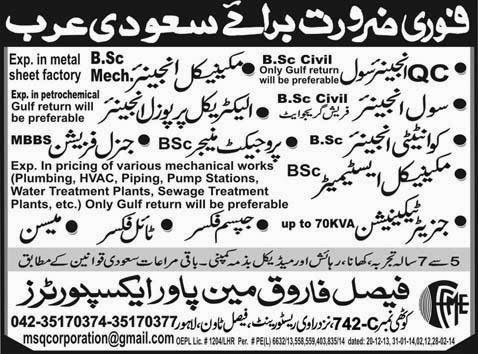 FIND JOBS IN PAKISTAN Q C  CIVIL ENGINEER JOBS IN PAKISTAN LATEST JOBS IN PAKISTAN