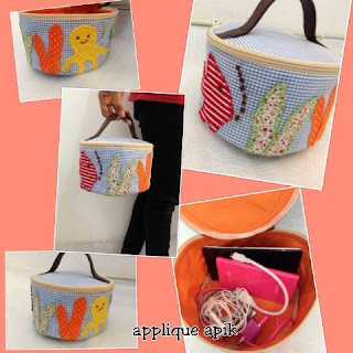 circle Applique pouch