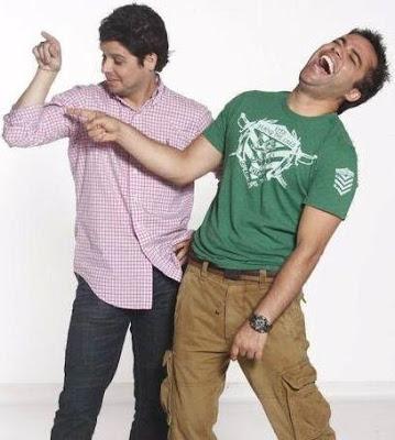 Gian Piero Díaz y su amigo haciendo de las suyas