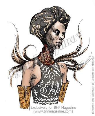 dessin mannequin de mode africaine (figurine de mode)