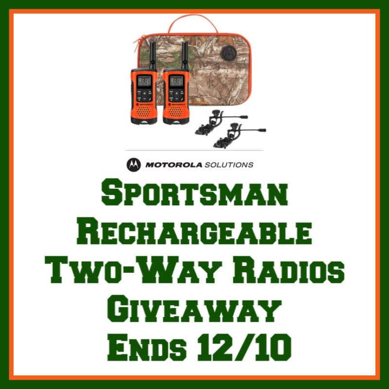 Sportsman Rechargeable 2 way Radio Giveaway