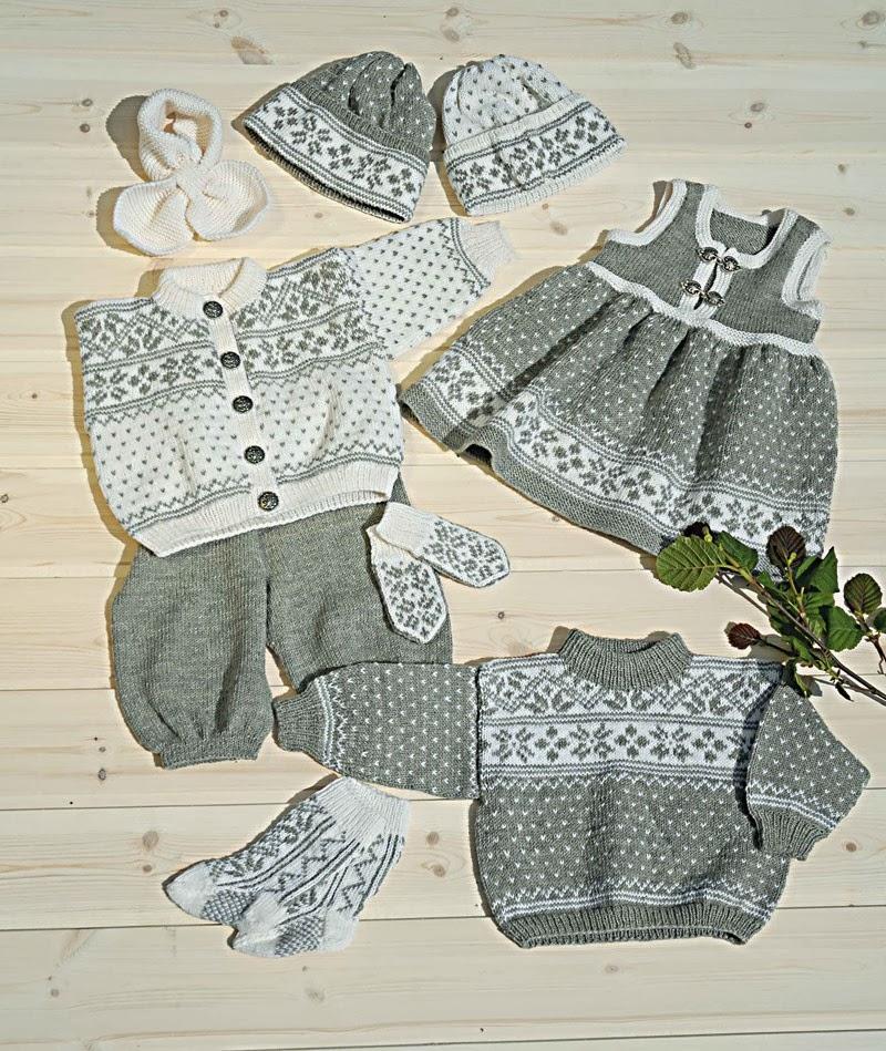 Gratis oppskrift: Genser, jakke, kjole, bukse, sokker & lue