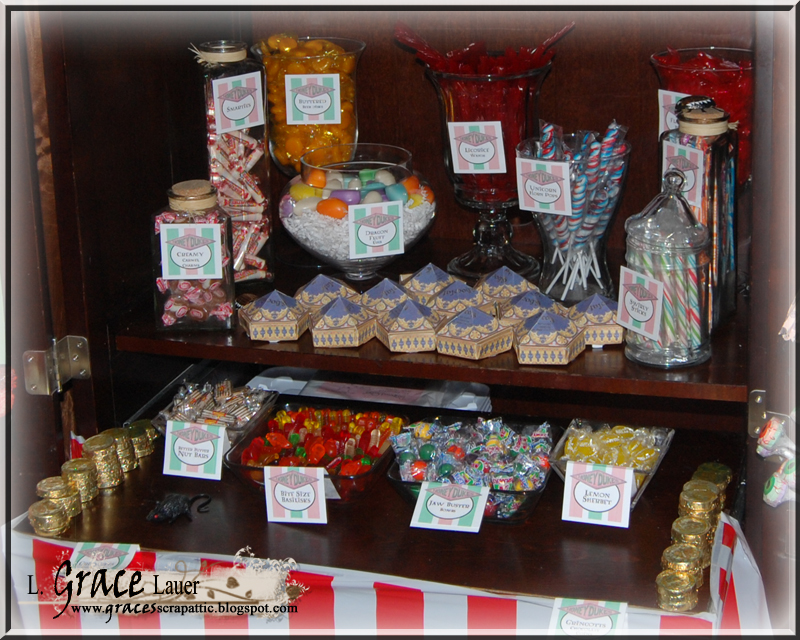 uniquely grace honeydukes candy display   harry potter