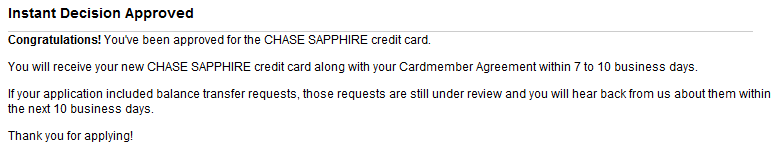 With A Score Of 800+, I Knew She Would Have No Problem Getting Approved For  This Card. She Was Happy To See This Message Pop Up After I Helped Her  Apply For ...