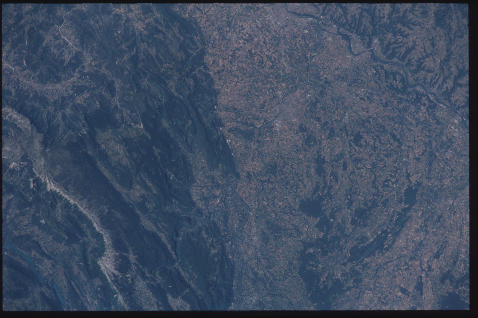 Votre ville/Département photographié par ISS