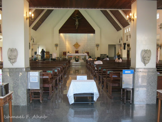 Interior of Rangsit Catholic Church