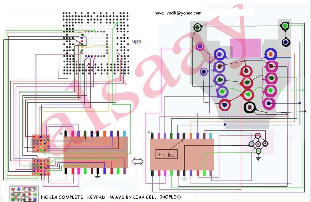 NOKIA 6600 COMPLETE KEYPAD/JOYSTICK WAYS